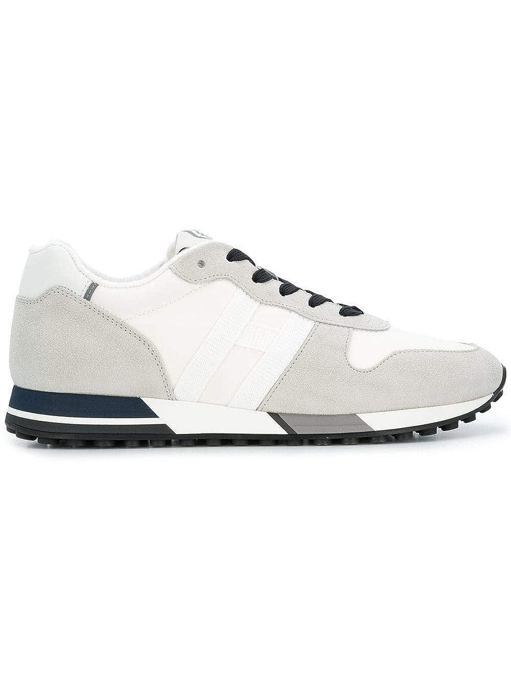 - Hogan Men's HXM3830AN50JIJ515E White Leather Sneakers