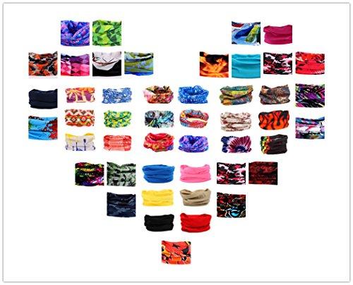 Multifunctional 16-in-1 Yoga Sports Fashion Travel Colors Headband Seamless Neck Uv Solid Moisture Wicking Bandana Hair Turban Scarf (constellation)