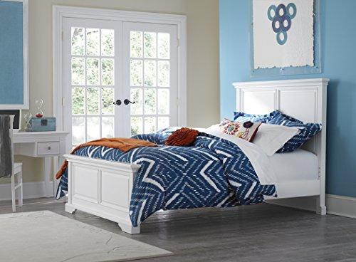 NE Kids Walnut Street Devon Panel Bed, White, Full (Hillsdale Set Bed Sleigh)