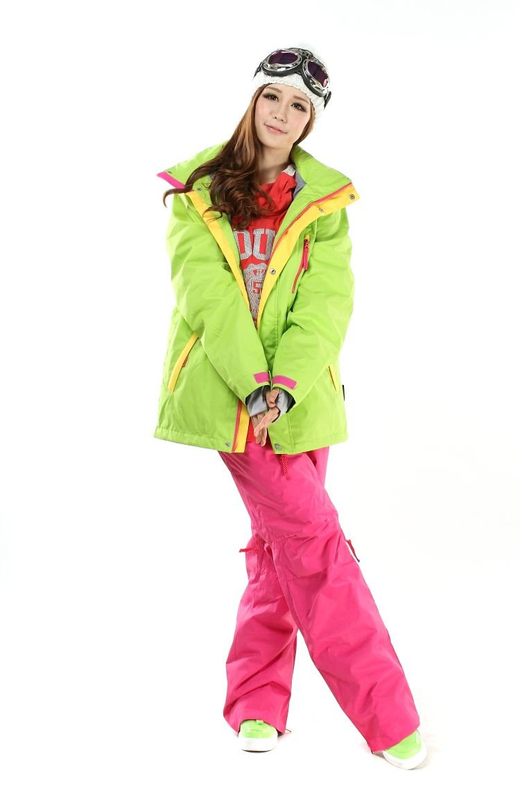 Somnus スノーボードウェア スキーウェア 上下セット レディース メンズ ユニセックス XS/S/M/L/XL 【Jacket4color×Pants 281Pink/285Black】レディースパンツ 3XL B00HNJSK4Y Medium|273 Lime×281 Pink 273 Lime×281 Pink Medium