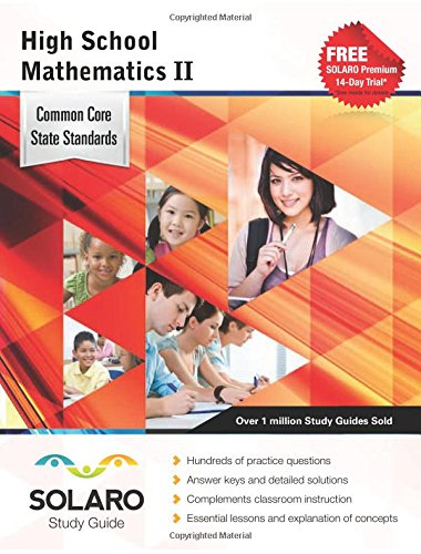 Read Online Common Core High School Mathematics II: SOLARO Study Guide (Common Core Study Guides) ebook