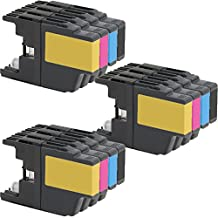 3 Set of 4 Inkfirst® Ink Cartridges LC71BK LC75BK, LC71C LC75C, LC71M LC75M, LC71Y LC75Y Compatible Remanufactured for Brother LC71 LC75 Black, Cyan, Magenta, Yellow MFC-J425W MFC-J430W MFC-J435W MFC-J625DW MFC-J825DW MFC-J835DW MFC-J280W MFC-J625DW MFC-J825DW MFC-J835DW MFC-J280W MFC-J425W MFC-J430W MFC-J435W