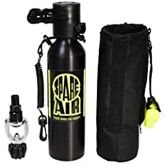 Package includes Spare Air, Holster, Safety Leash and Refill Adapter. Provides twice the amount of air over the standard 3.0 cu. ft. Spare Air.