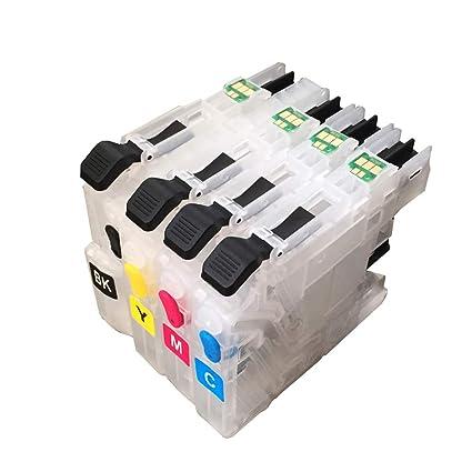 Caidi LC123 - Cartucho de Tinta Recargable para Impresora Brother ...