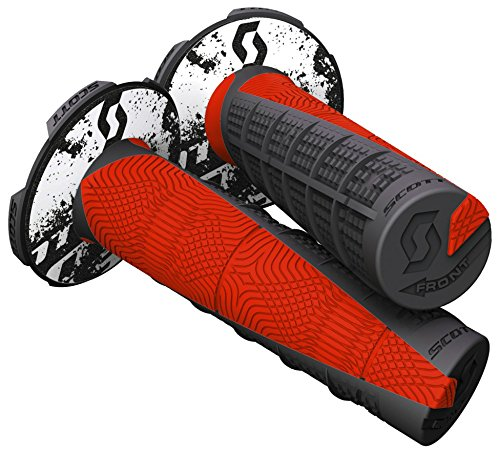 Scott Deuce Off-Road Motorcycle Hand Grips - Black/Neon Red/One Size