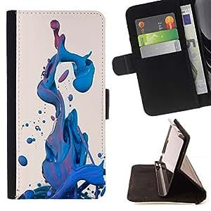 Water Cool Liquid Fluid Dynamic - Modelo colorido cuero de la carpeta del tirón del caso cubierta piel Holster Funda protecció Para Apple (5.5 inches!!!) iPhone 6+ Plus / 6S+ Plus