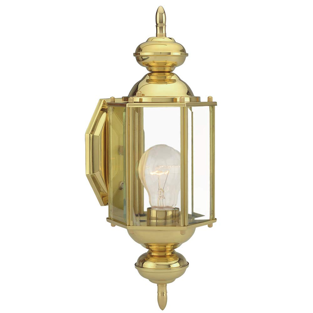 Design House 501692 Augusta 1 Light Indoor/Outdoor Wall Light, Solid Brass by Design House
