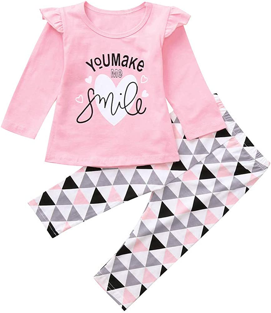 Hairband 3Pcs Outfits Casual Tracksuits Leopard Print Trousers DressLksnf Kids Baby Girls Long Sleeve Doll Collar Top Ruffle Shirt