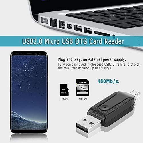 USB2.0 Micro USB OTG Card Reader for TF SD Memery Card for PC Mobile Phone for Android phone Computer notebook Blue-Ocean-11