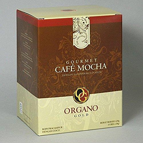 Organo Gold Gourmet Cafe Mocha,14.9 oz NET,15 sachets by Organo Gold