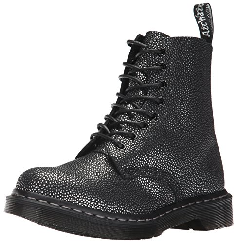 Dr. Martens Women's Pascal,Black/Silver Pebble Metallic,4 M UK (6 US) by Dr. Martens