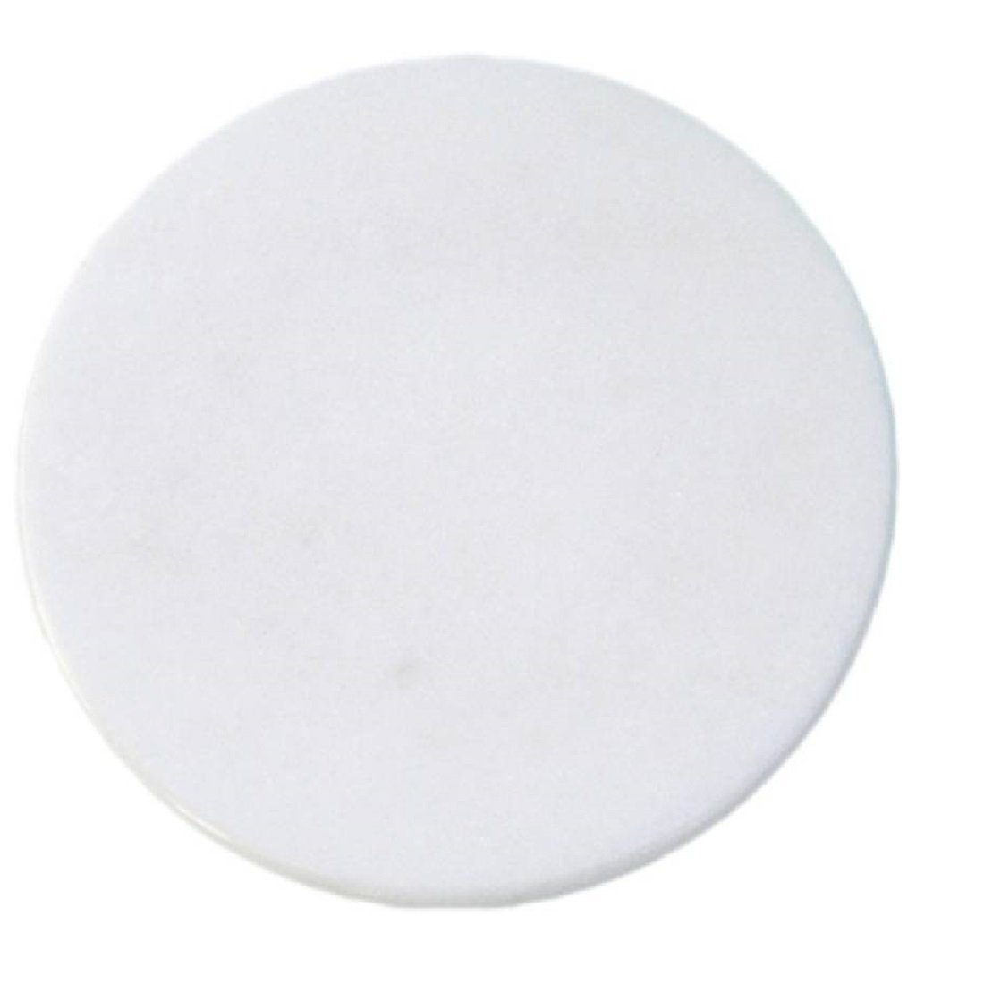 """Gr8 INDIA White Marble Chakla - 10"""" Diameter - Ring Base Rolling Pin Board, Roti Maker - From Banks of Holy River Narmada product image"""