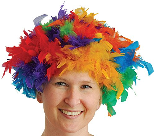 US Toy One Feather Wigs Costume, -