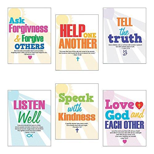 Faith Classroom Rules Poster Set by CusCus
