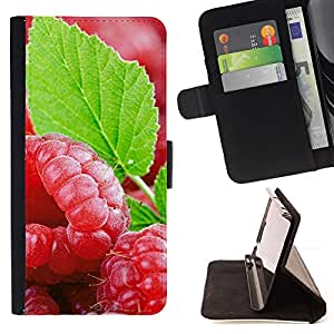 - Fruit Fresh Mint - - Monedero PU titular de la tarjeta de cr????dito de cuero cubierta de la caja de la bolsa FOR Samsung Galaxy S5 Mini, SM-G800 RetroCandy