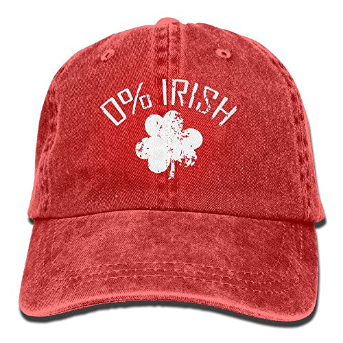 0% Irish Shirt Vintage St Patrick Day Dad Hat Adjustable Denim Hat Classic Baseball Cap -