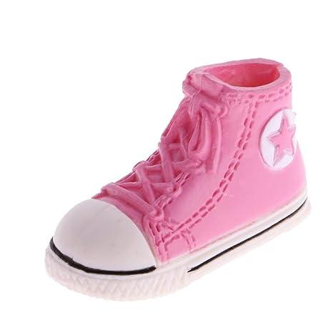 MagiDeal 3.7cm Scarpe Sportive Sneakers Tela per Le Bambole Blythe Bjd - Rosso xZLv4P4vc