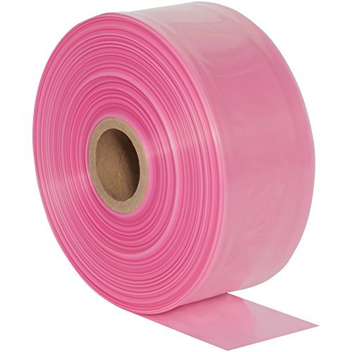 Box Tubing Poly Pink - BOX USA BPTAS1204 Anti-Static Poly Tubing, 4 mil, 12