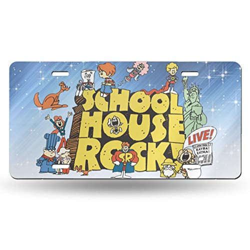 OUI-A Metal Cool School House Rock License Plate Car Accessories 6