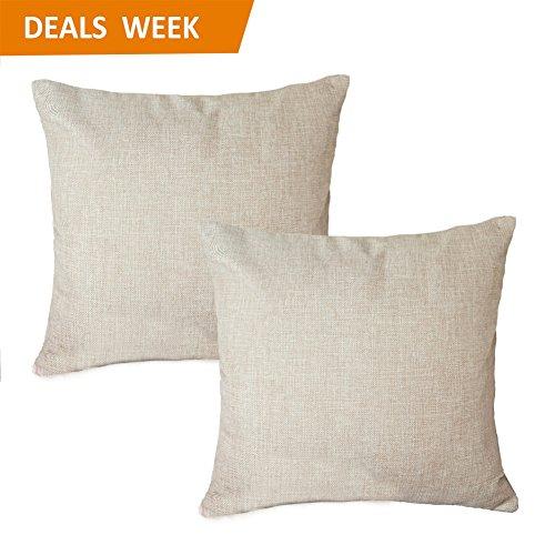 MRNIU Set of 2 Throw Pillow Covers Coastal Cushions Fine Fau