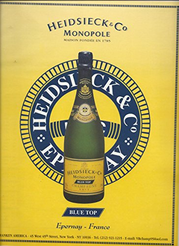 PRINT AD For Piper Heidsieck Monopole Blue Top Champagnes ()