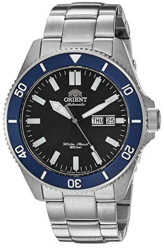 Orient Men's Kanno Japanese-Automatic Diving Watch with Stainless-Steel Strap
