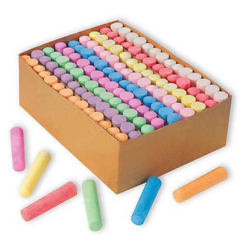 S&S Worldwide Color Splash! Giant Box of Sidewalk Chalk(box of 126)