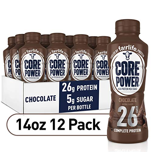 Core Power High Protein Milk Shake, Chocolate, 14 fl oz (Pack of 12)
