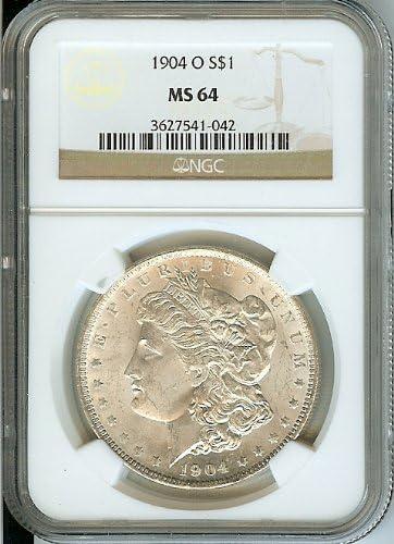 MS63 1904-O Morgan Dollar NGC