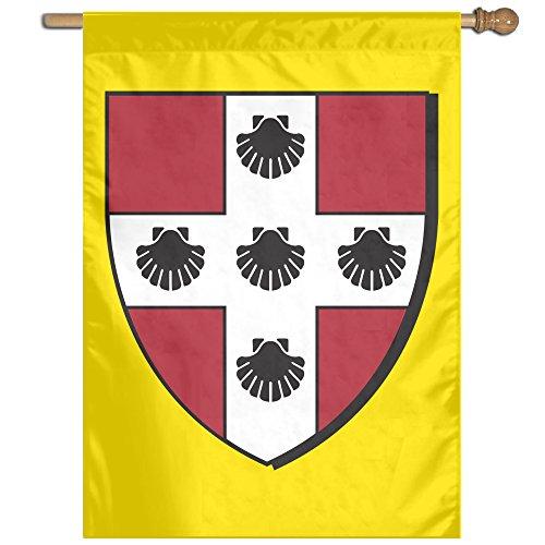 Wesleyan University Logo Home Garden Flag Banner 27