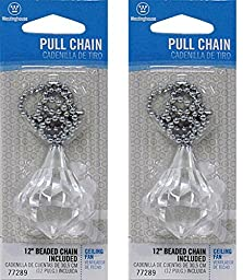 Westinghouse Acrylic Diamond Pull Chain (2 Pack)