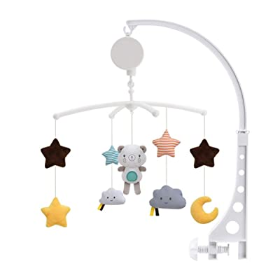 Luckycyc Crib Mobile, Musical Baby Crib Mobile Toy Infant Bedbell Rattle Toy Rotating Bedside Bell Baby Comfort Cloth Toy Musical Baby Crib Mobile Toy: Home & Kitchen
