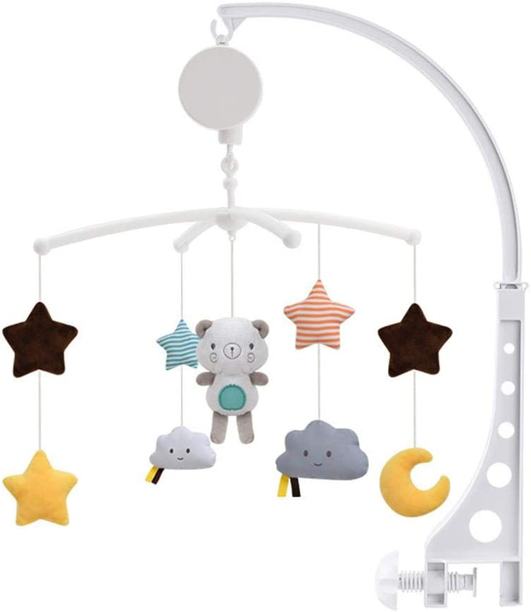 Toy For Newborn 0-24 Months Baby Travel Play Arch Stroller pegtopone Baby Musical Crib Mobile Crib Accessory Infant Bed Decoration Toy Hanging Rotating Bell With Melodies Dual Purpose