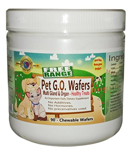 Pet G.O. wafers - Glandular Support for Dogs and Cats 90 count