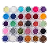 YESURPRISE 30 Colors Glitters Shimmer Matte Mineral Eyeshadow Cosmetics Eye Shadow Pigments Makeup