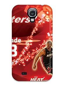 Tpu Case Cover Compatible For Galaxy S4/ Hot Case/ Attractive Miami Heat Nba