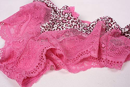 H-M-STUDIO Ropa Interior Femenina Encaje Sexy Leopardo Encaje Ropa Interior  Corbata De Lazo Pantalones Planos Semi Transparentes Ropa Interior Femenina  ... 4fbdb99e67fe