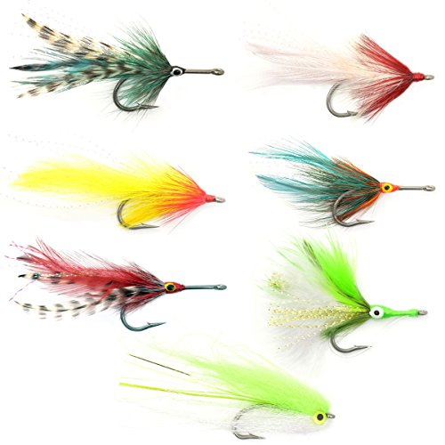 The Fly Fishing Place Tarpon Fly Fishing Flies Assortment - Collection of 7 Saltwater Flies - Stainless Steel Hooks - Size 2/0