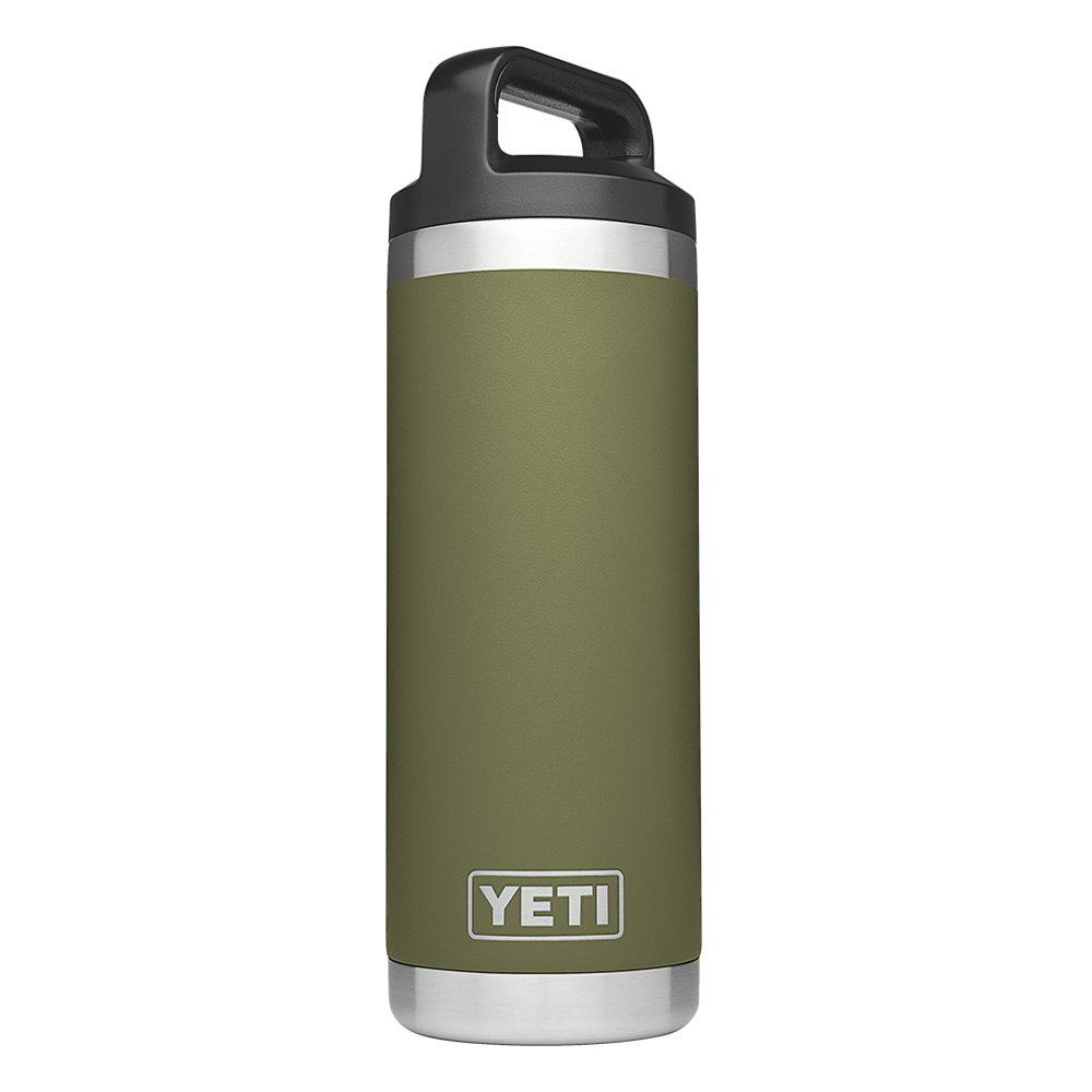 YETI Rambler 18oz Vacuum Insulated Stainless Steel Bottle with Cap, Olive Green DuraCoat