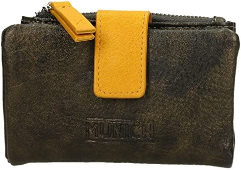 Cartera - Billetero Munich Marrón y Mostaza (11 cm): Amazon ...