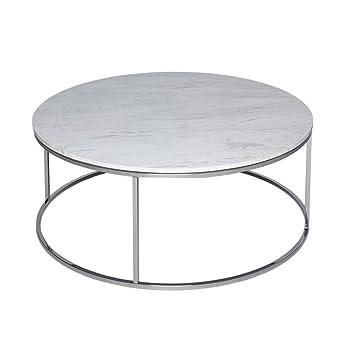 Gillmore Space Weissem Marmor Und Silber Metall Zeitgenossische
