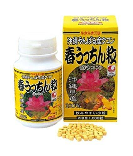 春ウコン 春うっちん粒 1000粒入×6P うっちん沖縄 高品質なウコンを使用 クルクミンや精油成分豊富 のみやすい錠剤タイプ B00GDVNAJ8 6P  6P