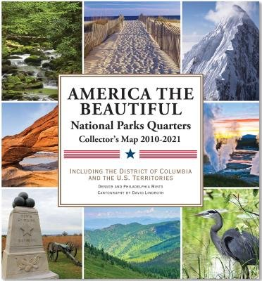 America the Beautiful( National Parks Quarters Collector's Map 2010-2021( Including the District of Columbia and the Us Territories)[AMER THE BEAUTIFUL NATL PARKS][Other] -
