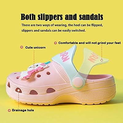Toddler Unicorn Shower Pool Slide Sandals Girls Boys Non-Slip Summer Slippers Lightweight Garden Shoes