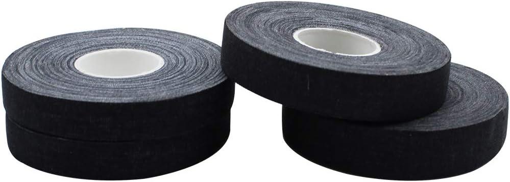LumenTY - Cinta protectora para dedos (4 rollos), color negro