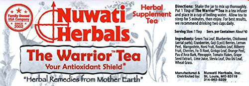 Nuwati Herbals - the Warrior Herbal Loose Tea Blend - Antioxidant Shield Against Free-Radicals, 6 Ounces