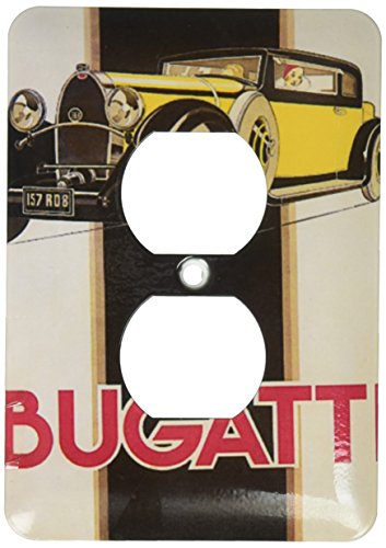 (3dRose lsp_173932_6 Image of Italian Art Deco Bugatti Car Light Switch Cover)
