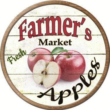 Sticky Notes Bargain World Farmers Market Apples Novelty Metal Circular Sign