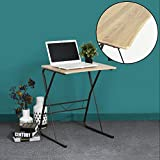 Portable Laptop Desk Writing Computer Desk WOHOMO Home Office Wooden Table With Sturdy Metal Legs for PC Laptop Over bed Studying Reading Table