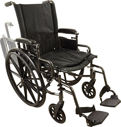 Roscoe Medical W420168S Onyx K4 Wheelchair with Swing Away Footrests, 20
